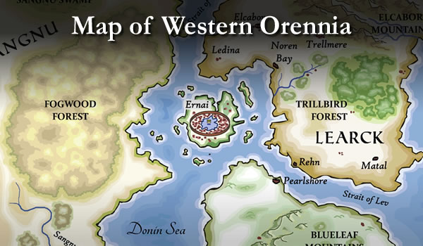 View the Map of Western Orennia